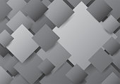 Overlapping black, white and gray diagonal blank square background