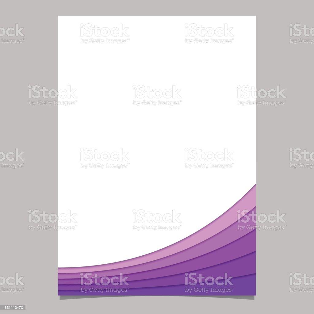 Abstrakte Seitenvorlage Aus Lila Kurven Vektorbroschüregrafikdesign ...