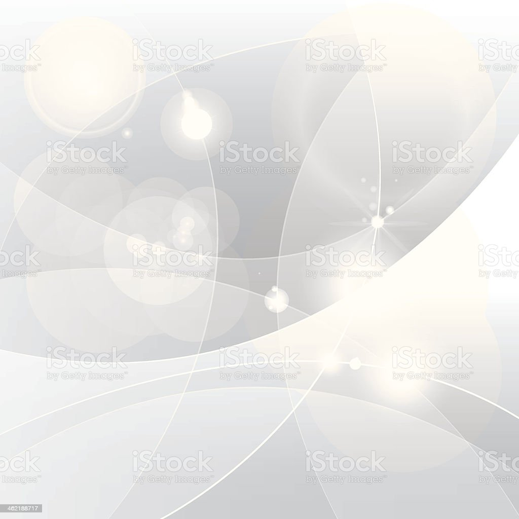Abstract painting of circular shapes painted in silver royalty-free stock vector art