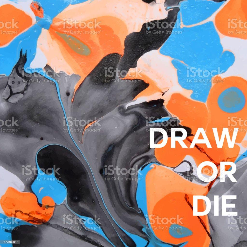 Abstract painting template. Handmade texture vector art illustration