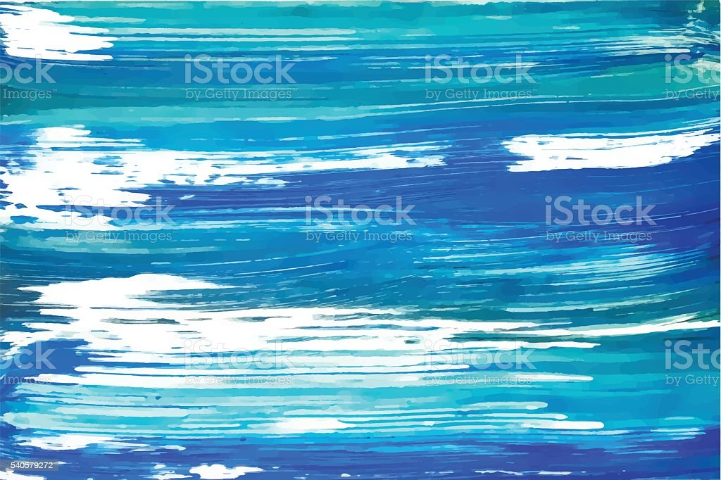 Abstract painting template. vector art illustration