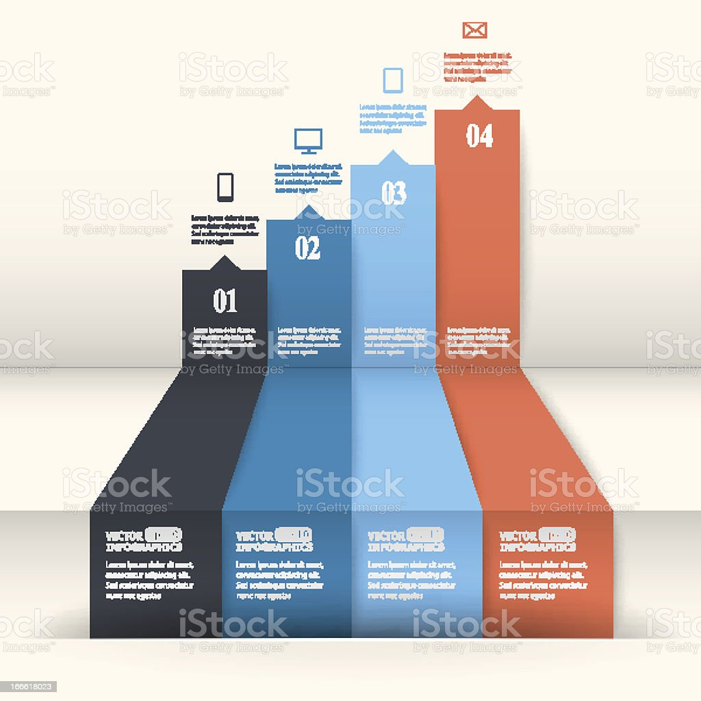 Abstract paper infografics royalty-free stock vector art