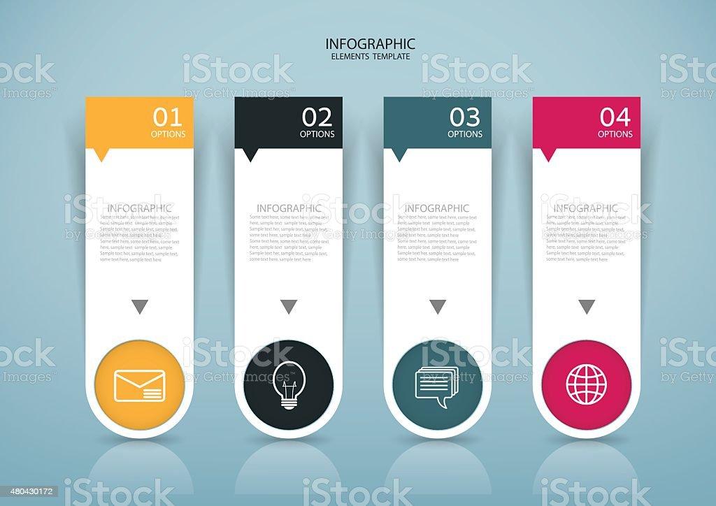 抽象的な紙のインフォグラフィックスタイル設計で、灰色の背景。 ベクターアートイラスト