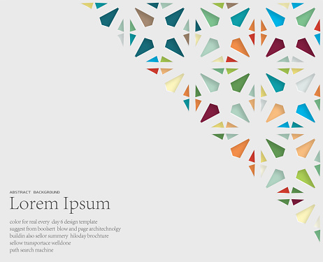 abstract papercutting style floral pattern background