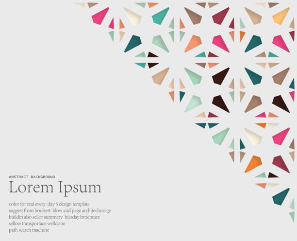 ilustrações, clipart, desenhos animados e ícones de abstrato papercutting estilo floral fundo padrão - christmas pattern