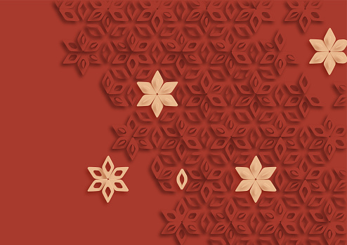 abstract papercutting style ornate floral pattern background design