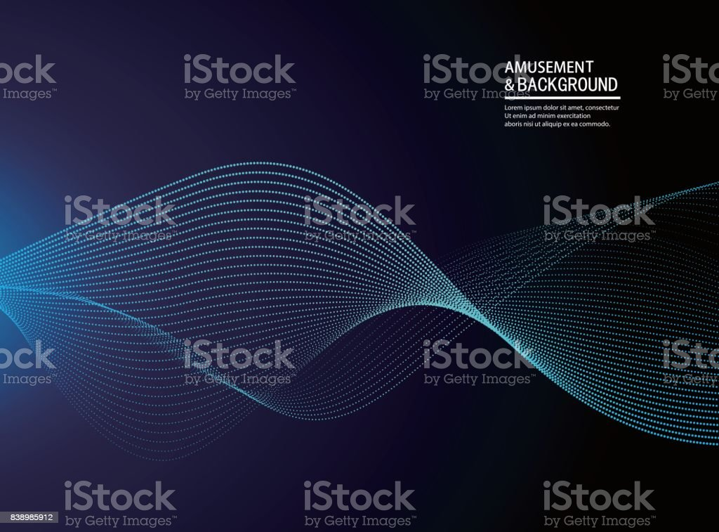 Abstract particle background vector art illustration