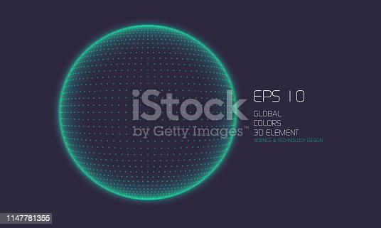 istock Abstract Particle Background with Copy Space 1147781355
