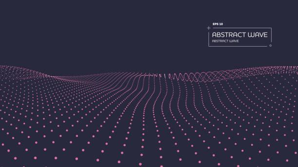 Abstract Partikel-Background mit Kopierraum – Vektorgrafik