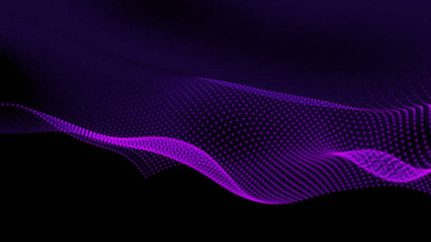 Abstract Particle Background with Copy Space vector art illustration