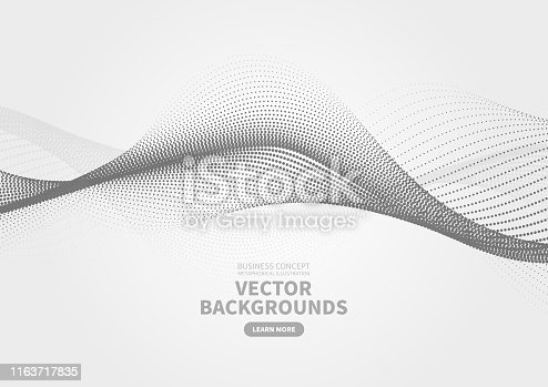 Abstract particle rippled dotted background