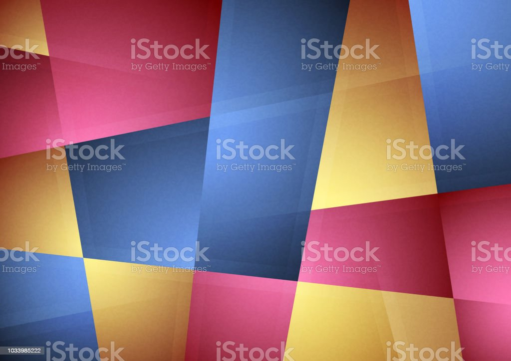 Abstract patchwork background vector art illustration