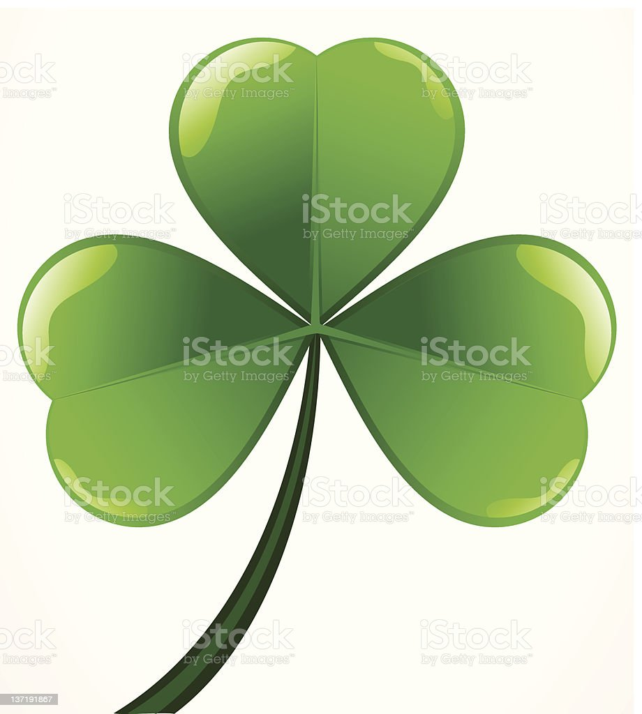abstract patrick's clover