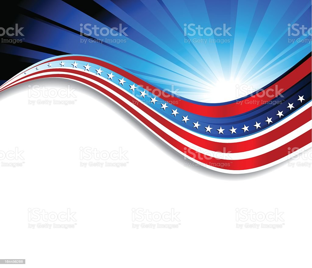 Abstract patriotic flag background vector art illustration