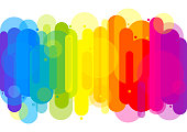 Simple rainbow abstract background vector design