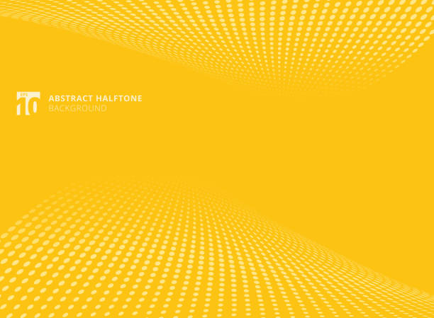 abstract pattern dots yellow color halftone perspective background. - motion stock illustrations