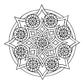 Abstract seamless pattern of mandala, coloring pages for kids and adults