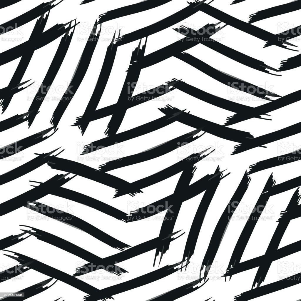 Abstrakte Muster für Zebra-Streifen – Vektorgrafik
