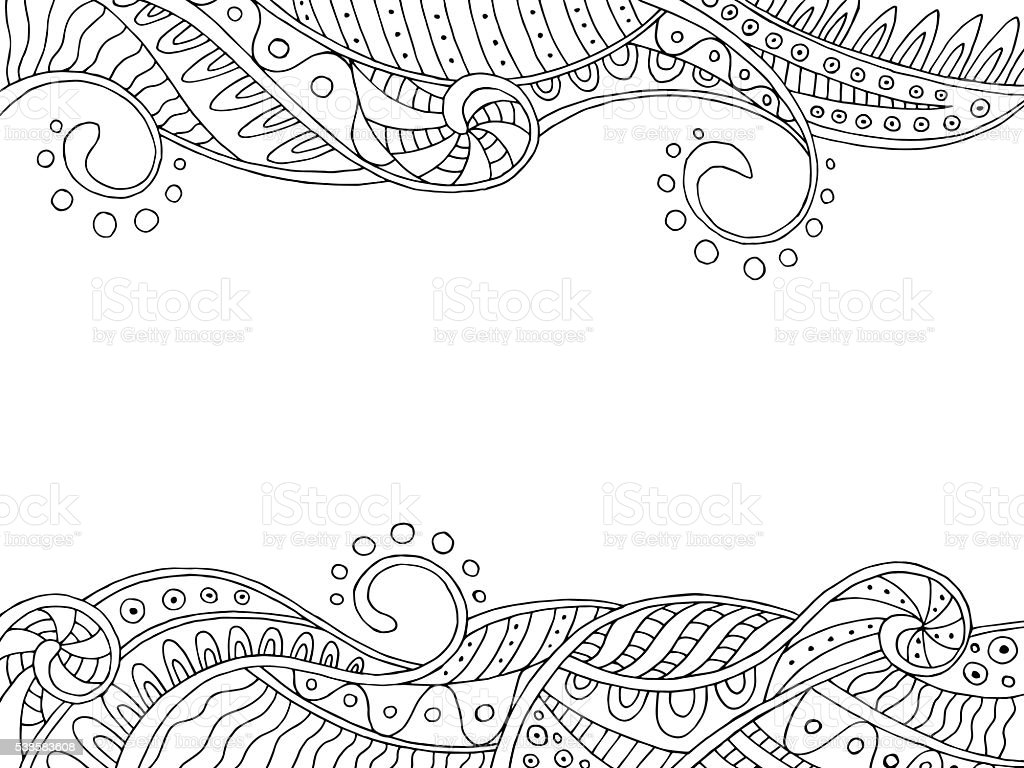 Abstract Pattern Frame Waves Background Illustration Vector Royalty Free