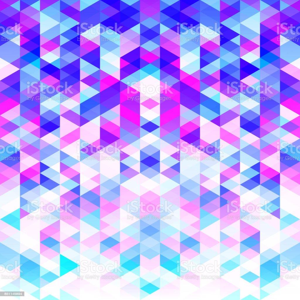Modèle Abstrait De Triangles Colorés Nuances De Couleur Froide ...