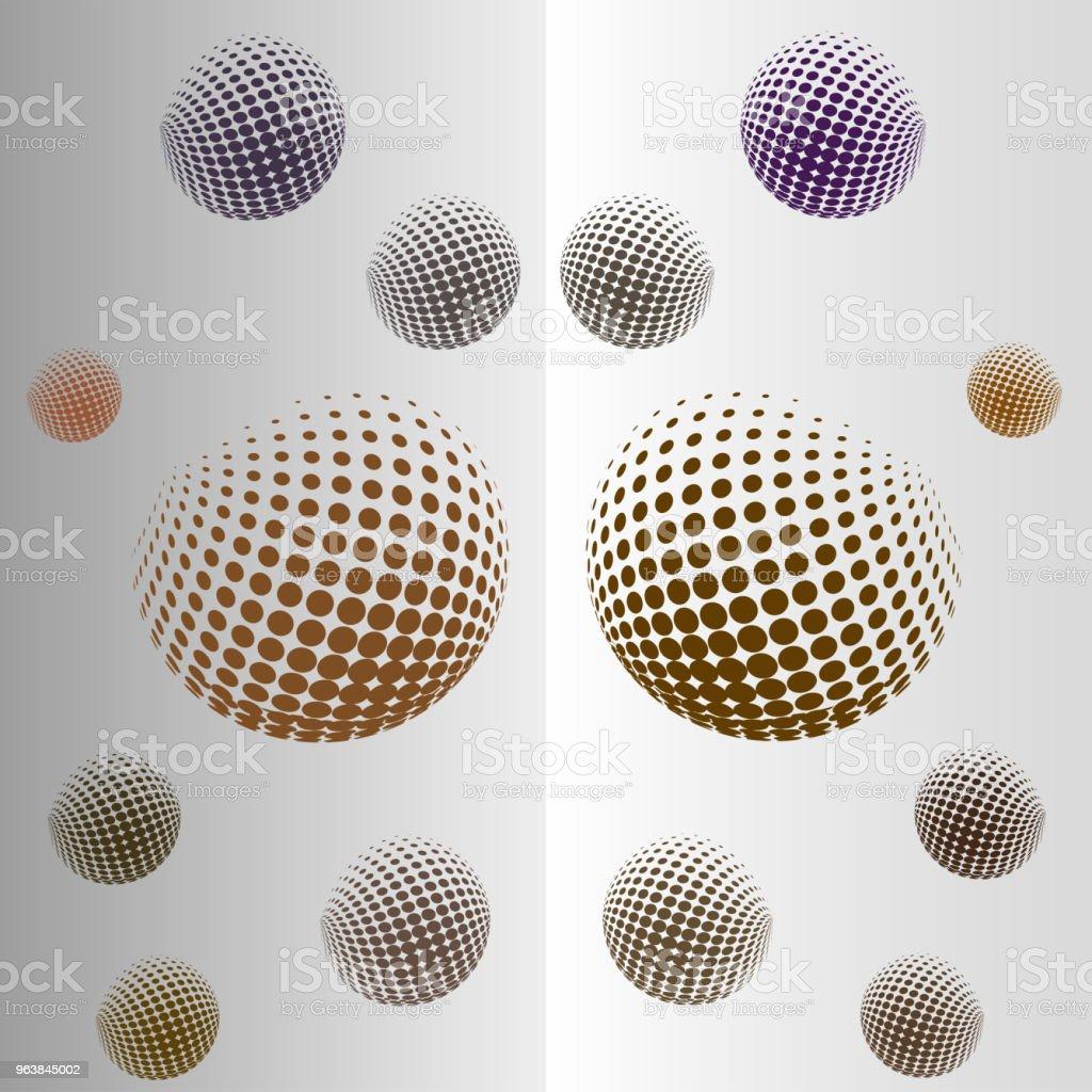 ミラー イメージで球を飛んでの抽象的なパターンウェブサイトの