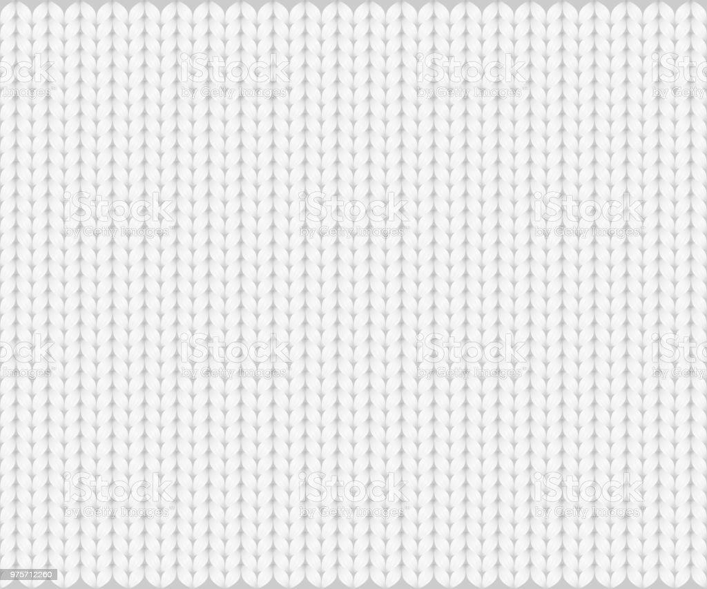 Resumen patrón de hilado de textura de punto, blanco sobre fondo gris. Ilustración de Vector, EPS10. - ilustración de arte vectorial