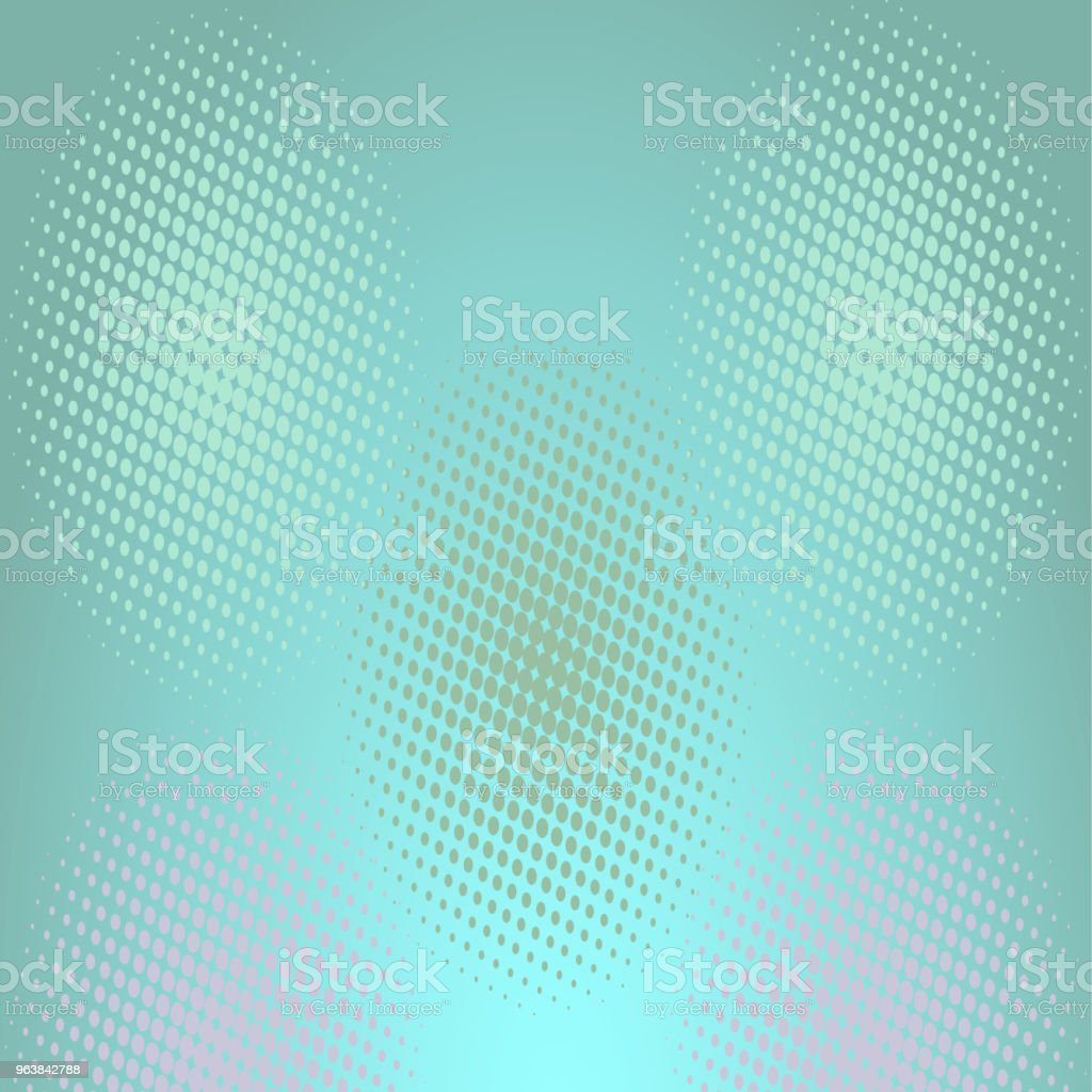 Abstract pattern of monochrome dotted, that make up wavy futuristic lines and figures. Vector illustration for website design, textiles, wallpapers, postcards, poster, labels mock-up. - Royalty-free Abstract stock vector
