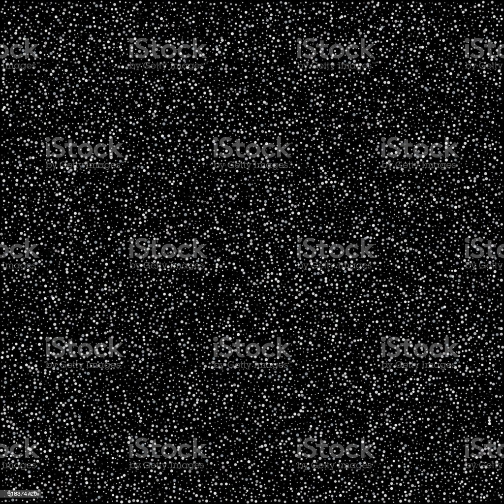 Abstract Pattern Of Random Silver Dots On Black Background Elegant For Textile