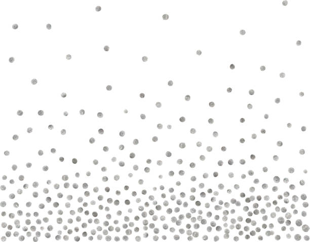 Abstract pattern of random silver dots. vector art illustration