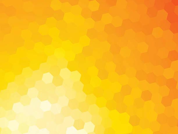 illustrazioni stock, clip art, cartoni animati e icone di tendenza di abstract pattern white yellow background - favo