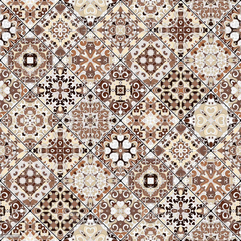 Patrones Abstractos En El Conjunto De Mosaico - Arte vectorial de ...
