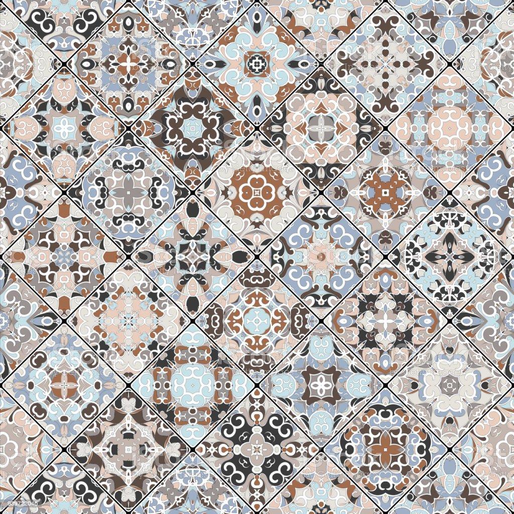Ilustración de Patrones Abstractos En El Conjunto De Mosaico y más ...
