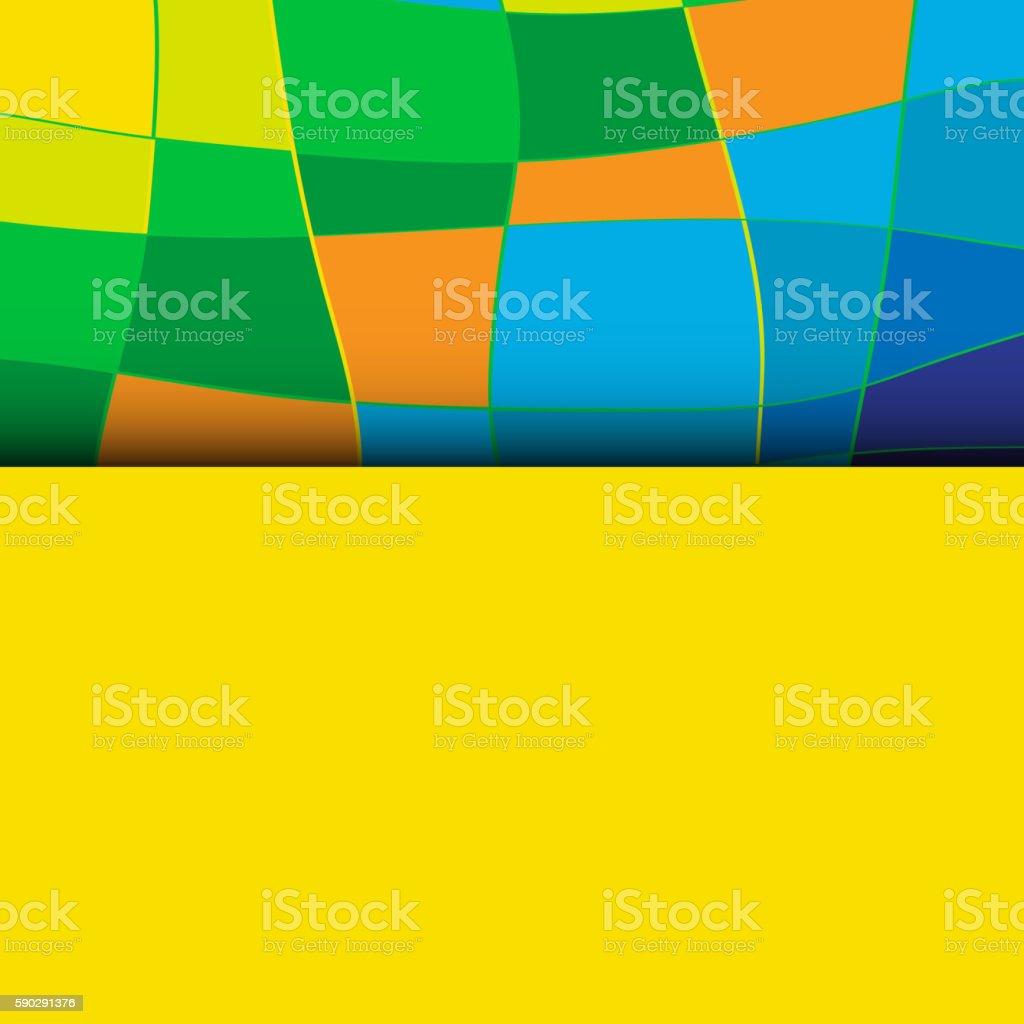 Abstract patterns of color flag  Brazil. Vector Illustration. abstract patterns of color flag brazil vector illustration — стоковая векторная графика и другие изображения на тему Без людей Стоковая фотография