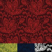 Abstract peacock inspired floral pattern forms a seamless repeat. Four color versions. Colors were applied as Global Swatches, so you can recolor each pattern in seconds. The patterns are also included in the Swatches palette, and an EPS & JPG versions of each actual tile section are included as well.