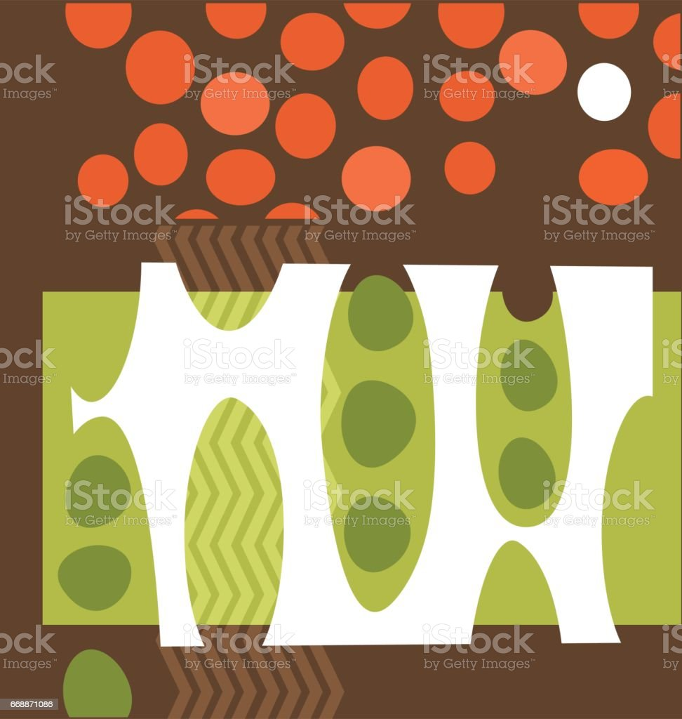 abstrakte Erbsen und Tomaten-Vektor-illustration – Vektorgrafik