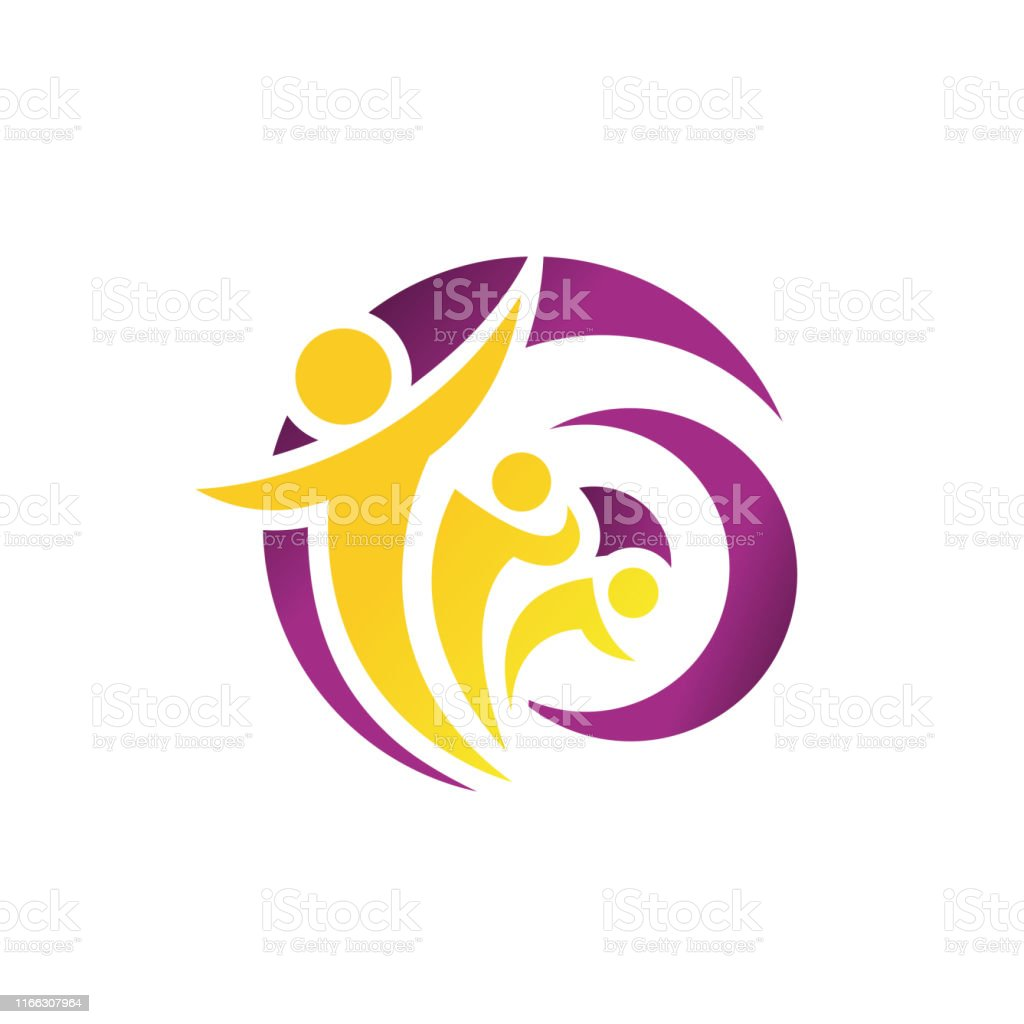 Abstract People Logo Design Vector Charity Community Healthy Icon Elements Symbol Stock Illustration Download Image Now Istock