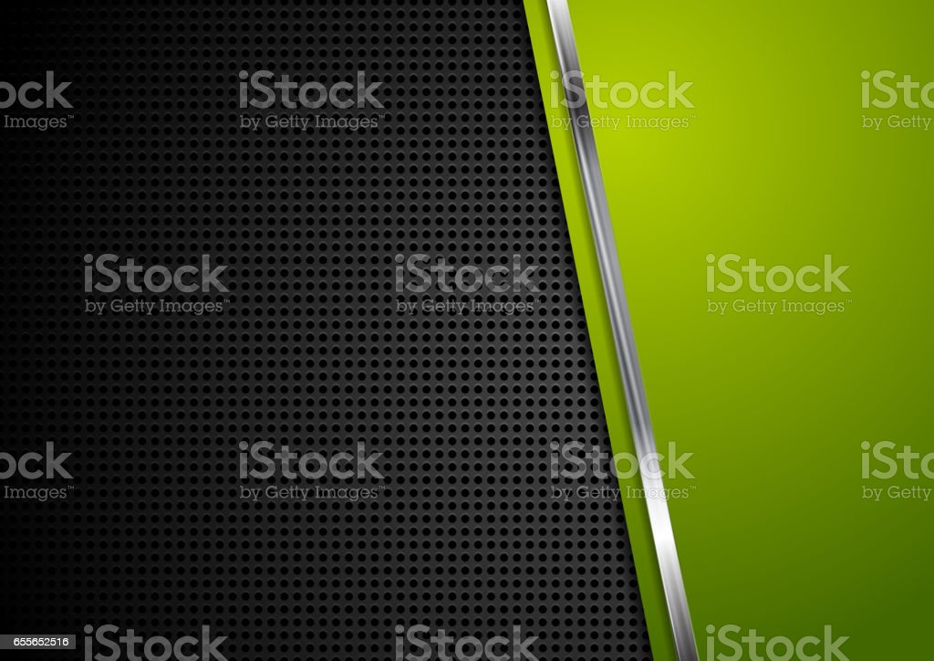 Abstract perforated metallic bright corporate design vector art illustration