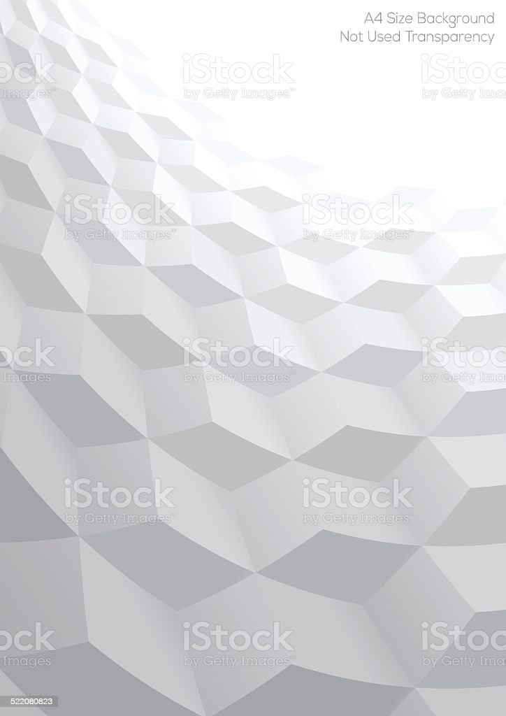 Abstract perspective background with 3d cubes vector art illustration
