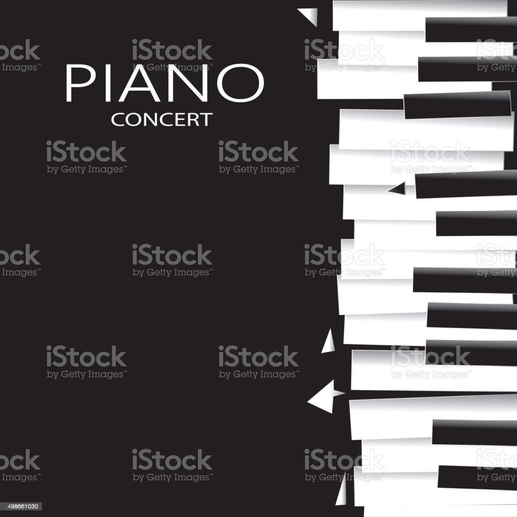Abstract Piano Poster, Music Abstract Art (Vector Art) vector art illustration