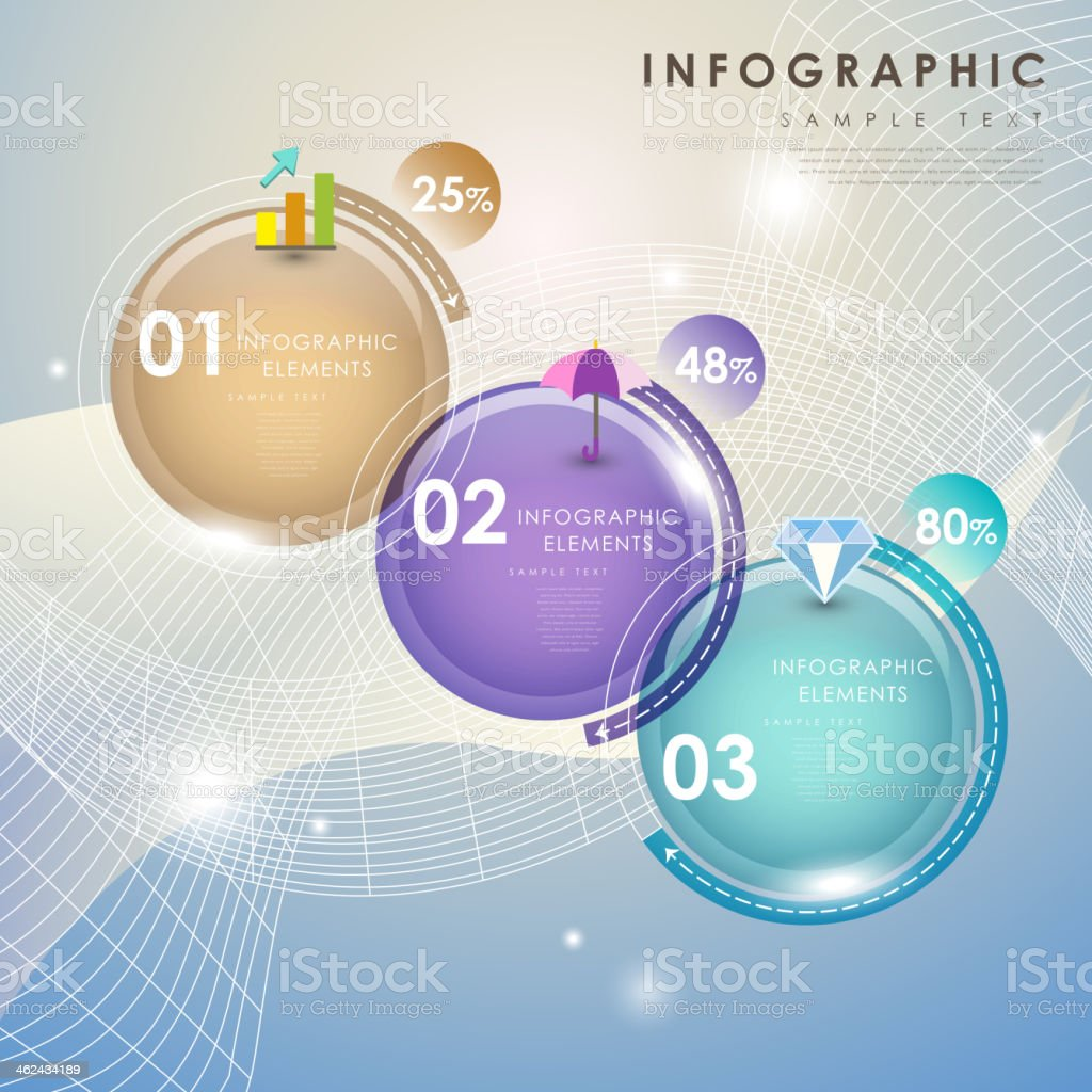 abstract pie chart infographics vector art illustration