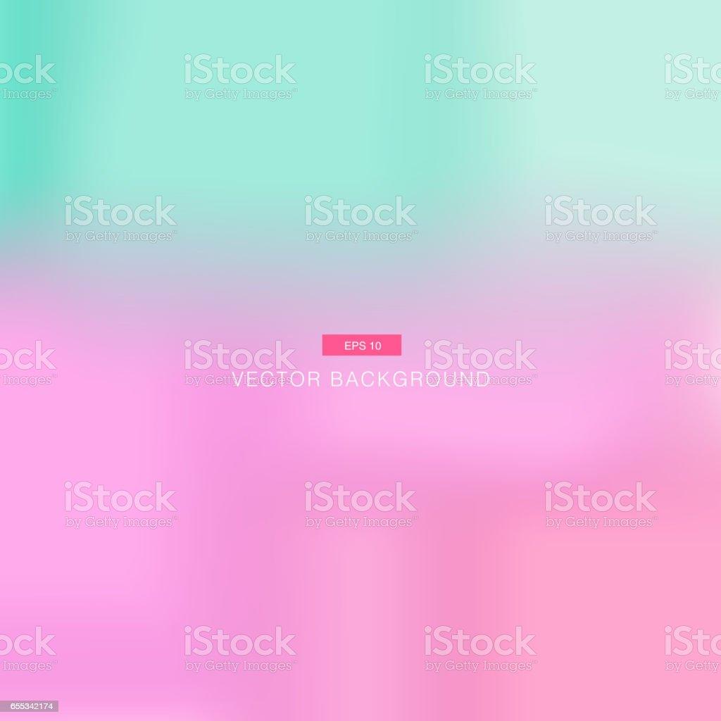 Abstrait pastel rose et bleu floue vector wallpaper - Illustration vectorielle
