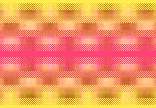 bildbanksillustrationer, clip art samt tecknat material och ikoner med abstrakta rosa och gula pixel konst rastrering bakgrund. - pink sunrise