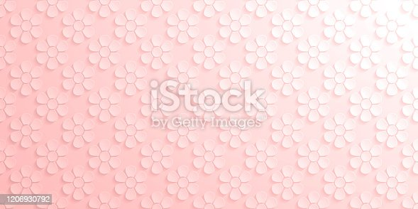 istock Abstract pink background - Flower pattern 1206930792
