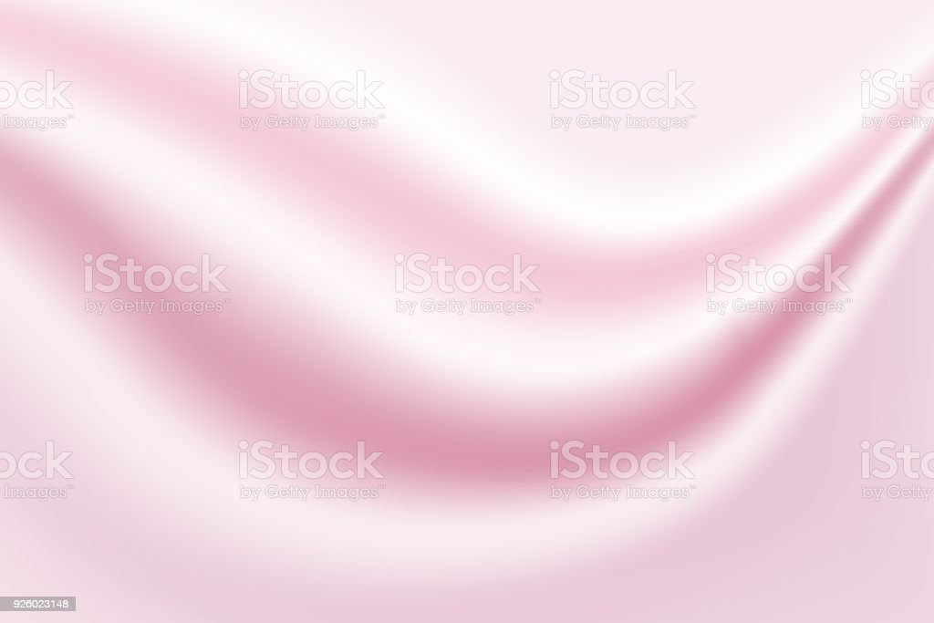 Abstract pink background luxury cloth or liquid wave or wavy folds of grunge silk texture satin velvet material  elegant wallpaper design, background. Vector Illustration vector art illustration
