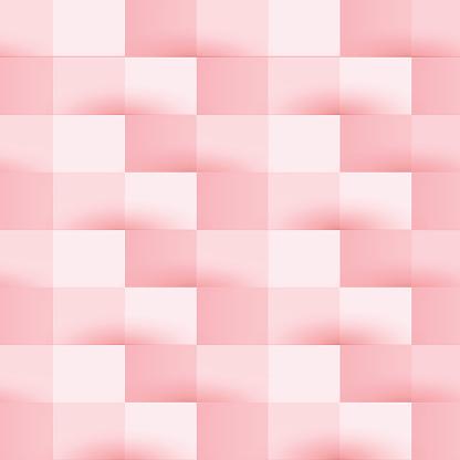 foto de Abstrato Rosa Padrão Geométrico Fundo De Verificação Arte vetorial de stock e mais imagens de