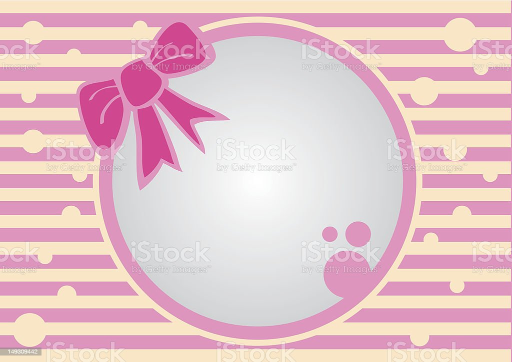 Abstract Pink frame with background. royalty-free stock vector art