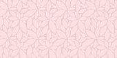 Abstract pink leaves seamless pattern vector background