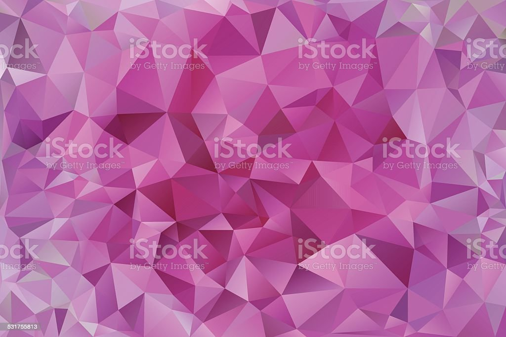 abstract pink polygonal  background vector art illustration