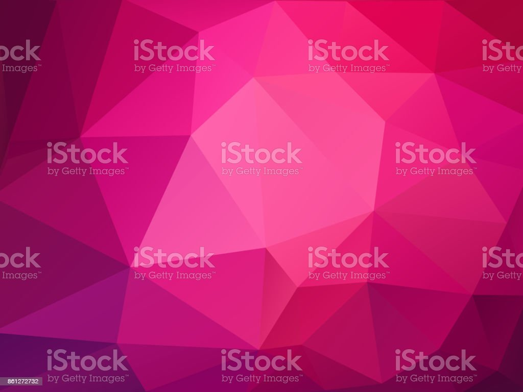 abstract pink polygonal pattern vector art illustration