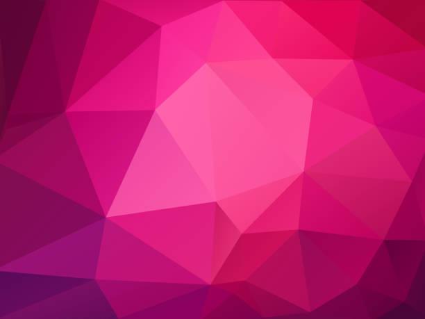 abstract pink polygonal pattern vector art illustration